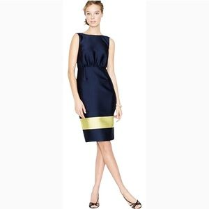 J. Crew Collection Colorblock V-Back Dress